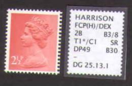 Machin Dg 25.13.1 SIDEWAYS RIGHT Printing - 1952-.... (Elizabeth II)