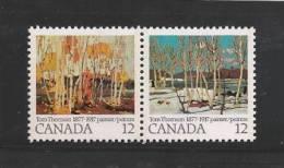 CANADA 1977 MNH Stamp(s) Tom Thomson 658-659 # 5668 - 1952-.... Reign Of Elizabeth II