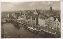 CPSM GDANSK (Pologne) - Blick Von Der Grunen Brucke - Pologne