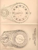 Original Patentschrift - H. Peters In Dümpten B. Styrum U. Mülheim , 1902 , Elektrische Weckuhr , Uhr !!! - Antike Uhren
