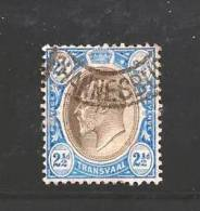 TRANSVAAL 1902  Used Stamp(s) Edward VII 2 1/2d Ultramarin Blue Saccnr. 105 - South Africa (...-1961)