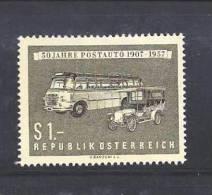 AUSTRIA 1957 Used Stamp(s) Postal Coaches Nr. 1034 - 1918-1945 1st Republic