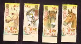 Tuvalu Scott   901-04 Mint NH VF  Year Of The Horse Set Of 4 - Tuvalu