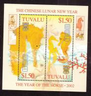 Tuvalu Scott   905 Mint NH Year Of The Horse Souv Sheet - Tuvalu