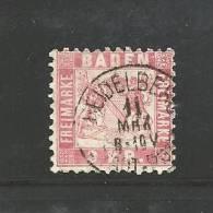 GERMANY -BADEN 1868 Used   Stamp 3 Kreuzer Red Nr. 24 - Baden