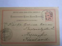 Autriche, Entier Postal Circule, Egerb Helsingfors Finland 1897 - Entiers Postaux