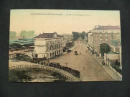 D  539  VILLENEUVE SAINT GEORGES  La Gare Et Avenue     Beau Plan Animées Colorisé   1909 - Villeneuve Saint Georges