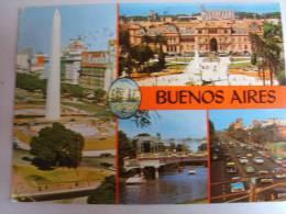 CARTOLINA POSTCARD ARGENTINA BUENOS AIRES  NICE STAMP 2 SCAN. - Argentina