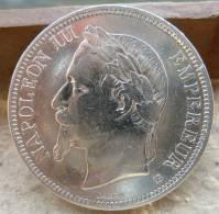 PIECE DE 5 FRANCS NAPOLEON III EN ARGENT DE 1869 TYPE BB TTB++/SUP - France