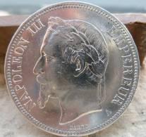 PIECE DE 5 FRANCS NAPOLEON III EN ARGENT DE 1870 TYPE A TTB++/SUP - France