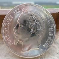 PIECE DE 5 FRANCS NAPOLEON III EN ARGENT DE 1868 TYPE A TTB++/SUP - France