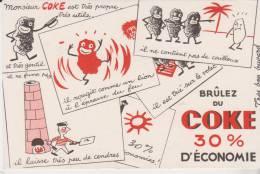 Buvard Brulez Du Coke - Buvards, Protège-cahiers Illustrés