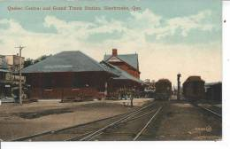 QUEBEC - Quebec Central And Grand Trunk Station, Sherbrooke, Que - Quebec