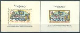 TCHECOSLOVAQUIE - MNH/*** LUXE - 1962 - PRAGA 1962  - Mi BLOC 18A 18B - Yv BLOC 21 21a -  Lot 7099 - Blocks & Kleinbögen