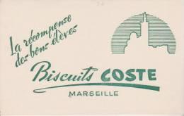 Buvard Biscuits Coste Marseille - Sucreries & Gâteaux