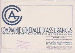 Buvard Compagnie Générale D'assurances - Banque & Assurance