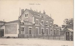 71 CHAGNY  La GARE  Jour De Fête  DRAPEAUX - Chagny