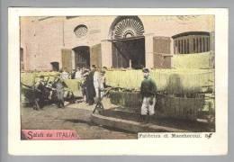 Motiv Berufe Lebensmittel Teigwaren Fabbrica Di Maccheroni 1899-09-16 Foto Napoli - Métiers
