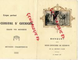 87 - AIXE SUR VIENNE - RARE MENU BANQUET DES SOUS OFFICIERS DE RESERVE-18 JUILLET 1937-HOTEL MORICE AUX BETTOULLES - Menus