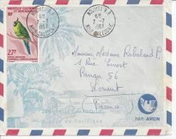 NOUVELLE - CALEDONIE  -  1967  -  LETTRE DE NOUMEA A DESTINATION DE LORIENT - (FR) - - Briefe U. Dokumente