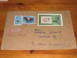 Brief Cover DDR Deutschland Block 1979 Albert Einstein Dresden - Wuppertal Satzbrief Gestempelt Einschreiben - [6] Democratic Republic