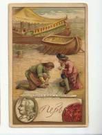 CHROMO - FORMAT CPA - HISTOIRE - PIERRE LE GRAND A ROTTERDAM - SCENE - PORTRAIT ET AUTOGRAPHE - TEXTE AU VERSO - Trade Cards