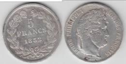 ****  5 FRANCS LOUIS-PHILIPPE 1832 BB (STRASBOURG) TRANCHE EN RELIEF - ARGENT **** EN ACHAT IMMEDIAT !!! - France