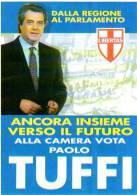 DC elezioni politiche 1990 Cartolina elettorale TUFFI,partito politico,  non viaggiata