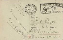 CACHET OBLITERATION PERIODO DI CURA SALSOMAGGIORE MARZO-NOVEMBRE + VENEZIA FERRROVIA  ITALIA - 1900-44 Vittorio Emanuele III