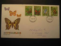 ENGLAND GB UK London 1981 Papillon Papillons Butterfly Butterflies Mariposa Moth Moths Farfalle Schmetterlinge - Butterflies