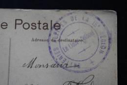 Sur Carte Postale Monte-Carlo 1908 ( Cachet à Date Nice) + Cachet Militaire Batterie Alpine De La Région Pour Marseille - Marcophilie (Lettres)
