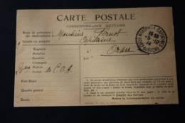 20e Section Corps Armée D'AfriqueMarseille—>Gue Rre 14 -18> Carte Postale En Franchise Militaire >P Oran - Marcophilie (Lettres)