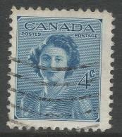 Canada. 1948 Princess Elizabeth´s Marriage. 4c Used - 1937-1952 Reign Of George VI