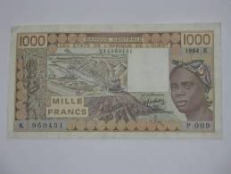 1000 Mille Francs 1984 -SENEGAL - Banque Centrale Des états De L´Afrique De L´ouest - - Sénégal