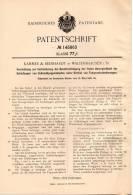 Original Patentschrift - Kämmer & Reinhardt In Waltershausen I. Th.,1903, Schlafaugen Von Zelluloidpuppenköpfen , Puppen - Puppen