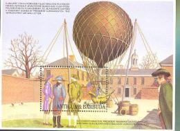 ANTIGUA  & BARBUDA  1719 MINT NEVER HINGED SOUVENIR SHEET OF AVIATION ; HYDROGEN BALLOON - Airplanes