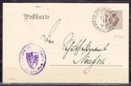 Wuerttemberg DP 5/03, Stadtschultheissenamt Riedlingen, Nach Neufra 1913 (36901) - Ganzsachen