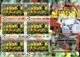 Grenada 2006 Block Sheetlet Of 6 MNH, Team Australia, Soccer World Championship Germany, Australie
