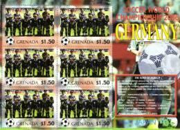 Grenada 2006 Block Sheetlet Of 6 MNH, Team Japan, Soccer World Championship Germany