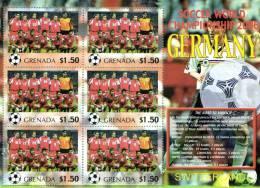 Grenada 2006 Block Sheetlet Of 6 MNH, Team Switzerland, Soccer World Championship Germany, Suisse