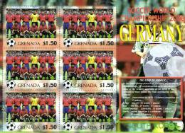 Grenada 2006 Block Sheetlet Of 6 MNH, Team South-Korea, Soccer World Championship Germany