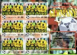 Grenada 2006 Block Sheetlet Of 6 MNH, Team Togo, Soccer World Championship Germany