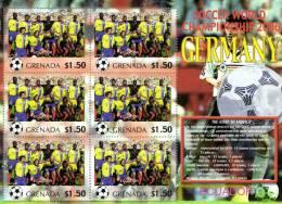 Grenada 2006 Block Sheetlet Of 6 MNH, Team Ecuador, Soccer World Championship Germany