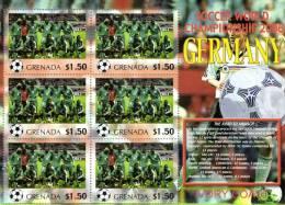 Grenada 2006 Block Sheetlet Of 6 MNH, Team Ivory Coast, Soccer World Championship Germany, Elfenbeinküste Cote D'Ivoire