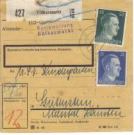 """Österreich, Paketkarte  Deutsches Reich """"Ostmark"""" Völkermarkt - 1918-1945 1. Republik"""