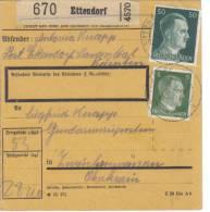 """Österreich, Paketkarte Deutsches Reich """"Ostmark"""" Ettendorf - 1918-1945 1. Republik"""