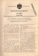 Original Patentschrift - P. Fuhrmann In Bant B. Wilhelmshaven , 1903 , Schrank Für Zündholz - Behälter , Streichhölzer ! - Zündholzschachteln