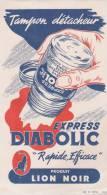 Buvard Tampon Détacheur Diabolic Lion Noir - Buvards, Protège-cahiers Illustrés