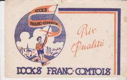 Buvard Docks Franc Comtois - Buvards, Protège-cahiers Illustrés