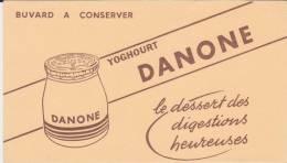 Buvard Yoghourt Danone - Leche